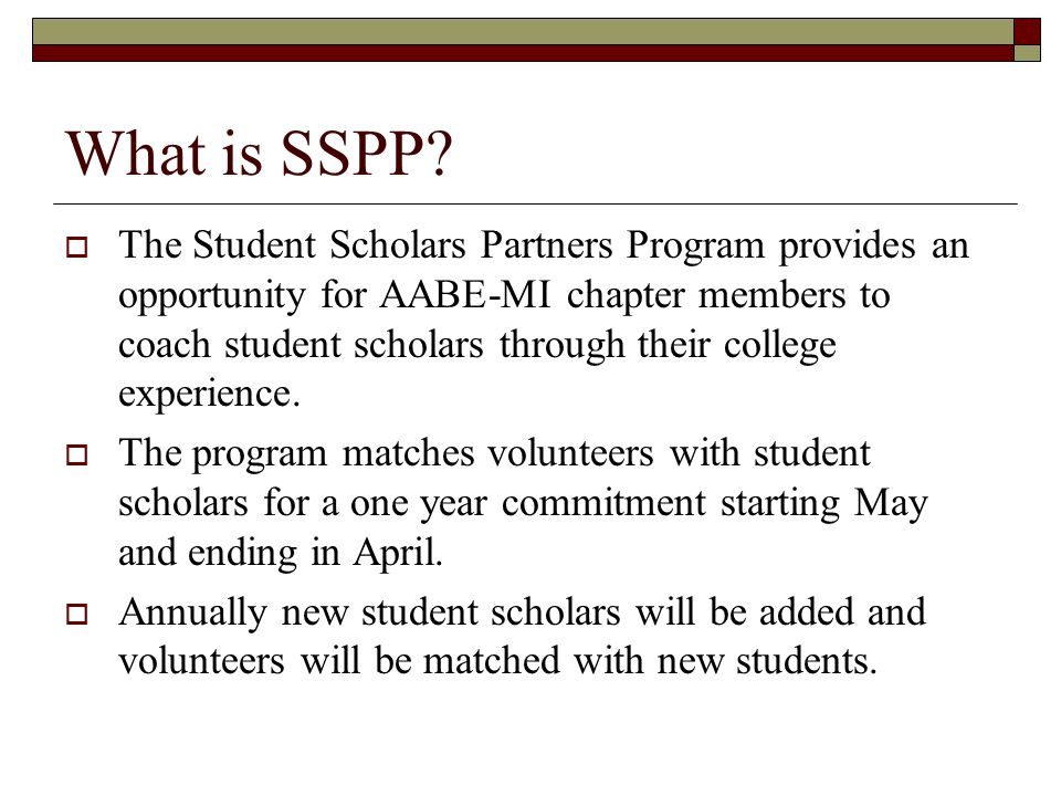 What is SSPP.