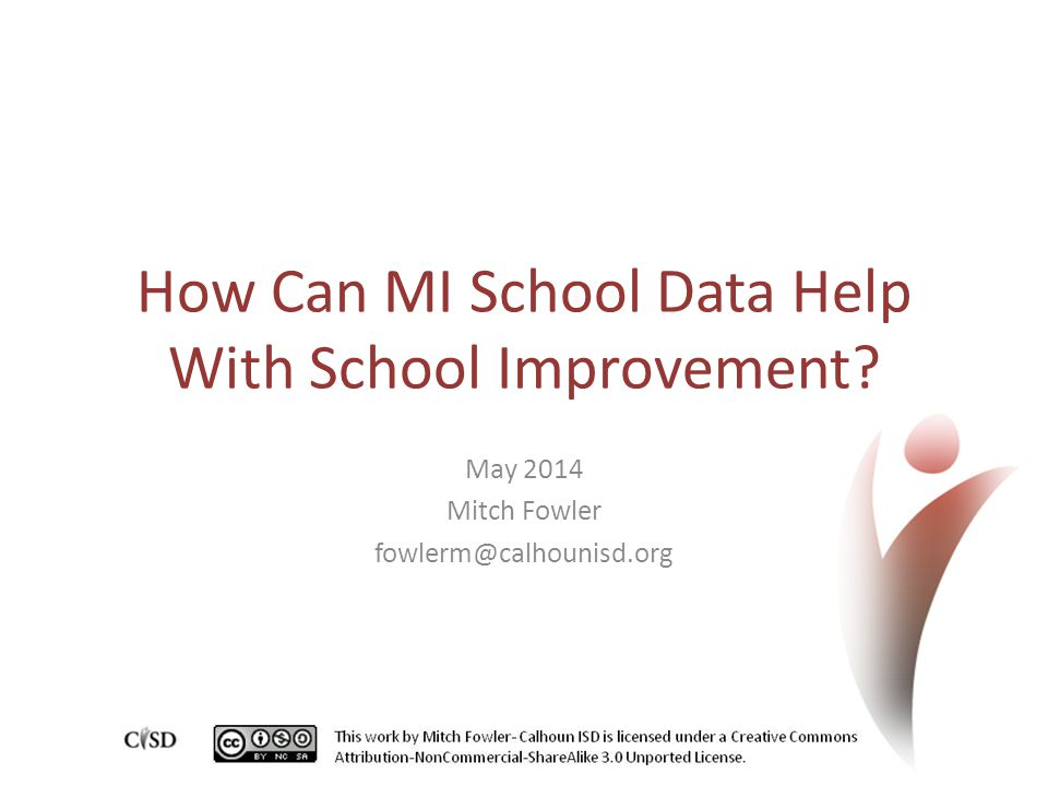 How Can MI School Data Help With School Improvement? May 2014 Mitch Fowler fowlerm@calhounisd.org