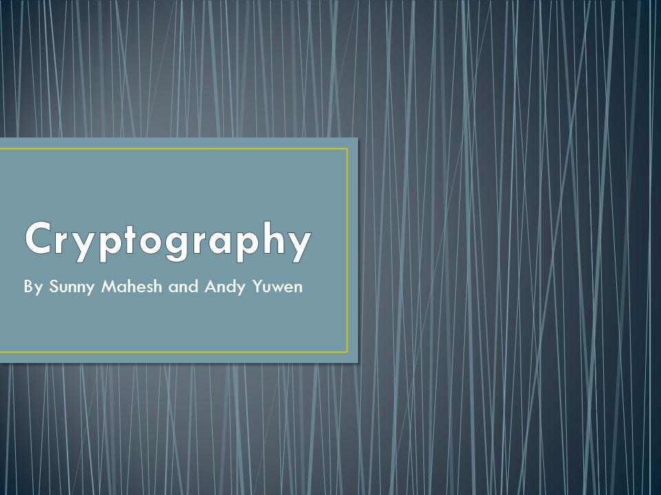 Cryptography = Secret Messages = Cool Stuff Ciphers Difference between plaintext and ciphertext Enciphering and Deciphering