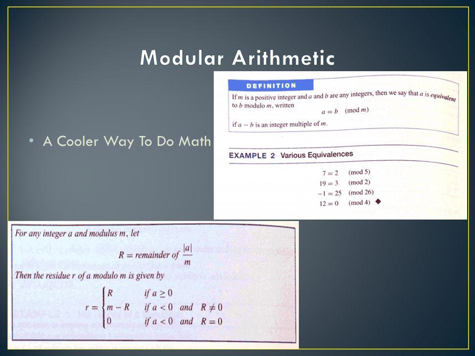A Cooler Way To Do Math