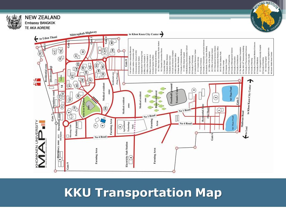 KKU Transportation Map