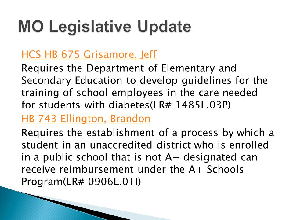 HCS HB 675 Grisamore, Jeff Requires the Department of Elementary and Secondary Education to develop guidelines for the training of school employees in