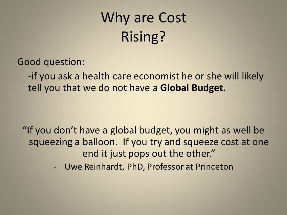 Why are Cost Rising.