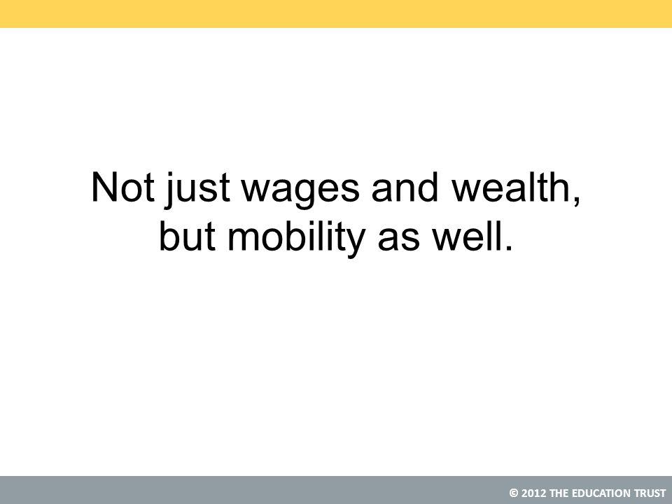 © 2012 THE EDUCATION TRUST Not just wages and wealth, but mobility as well.