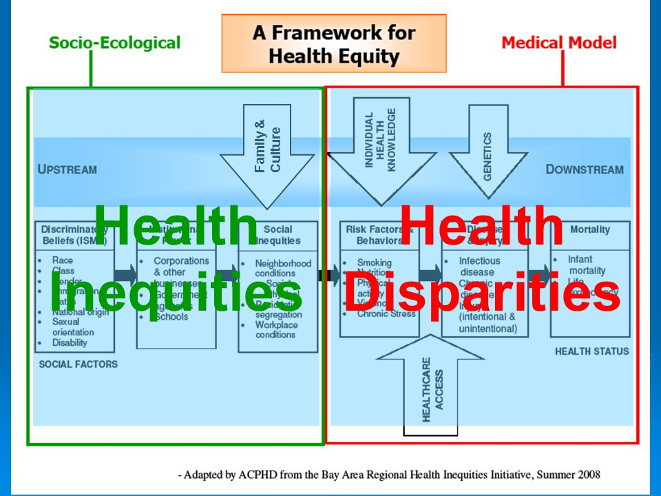 Health Inequities Health Disparities