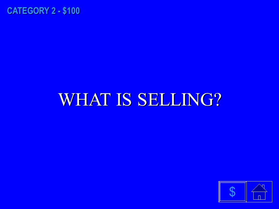 CATEGORY 1 - $500 WHAT IS MARKETING MIX $