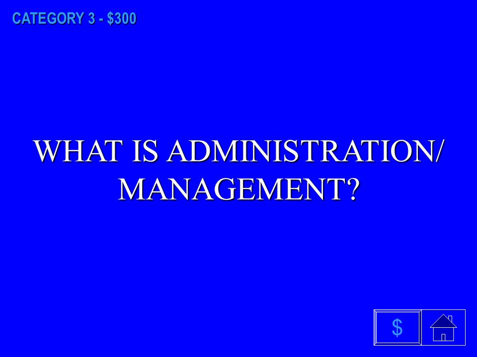 CATEGORY 3 - $200 WHAT IS ACCOUNTING & FINANCE $