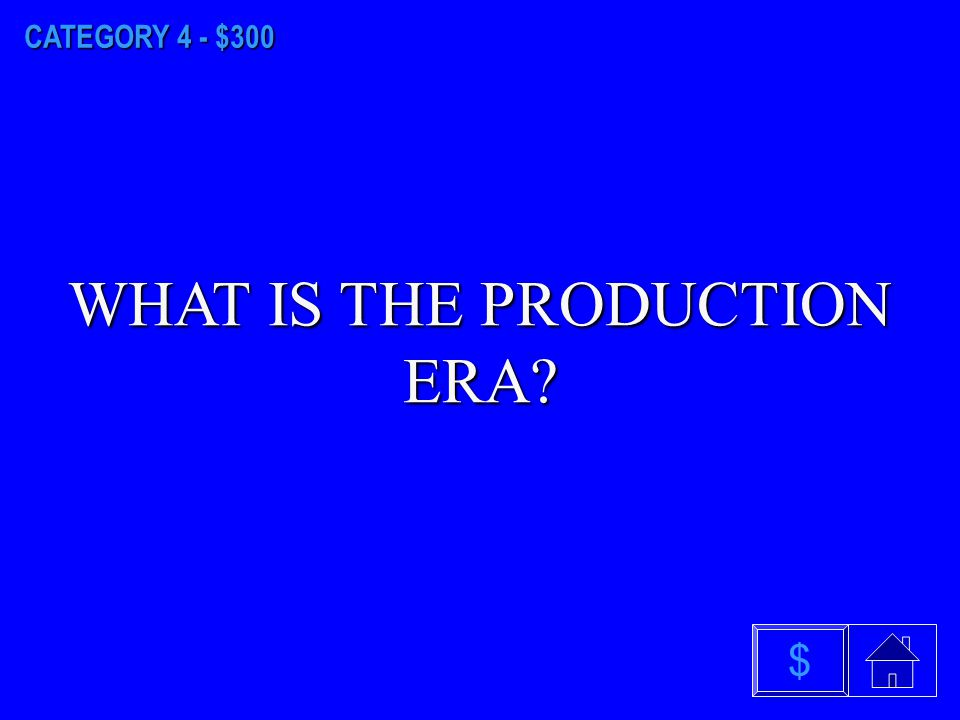 CATEGORY 4 - $200 WHAT IS THE MARKETING DEPARTMENT ERA $