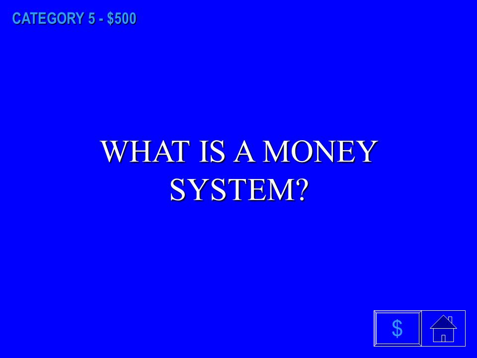 CATEGORY 5 - $400 WHAT IS SPECIALIZATION OF LABOR $