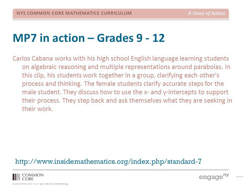 © 2012 Common Core, Inc. All rights reserved.
