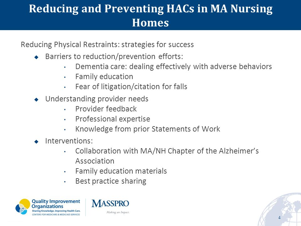 5 Physical Restraint Reduction Participating Nursing Homes