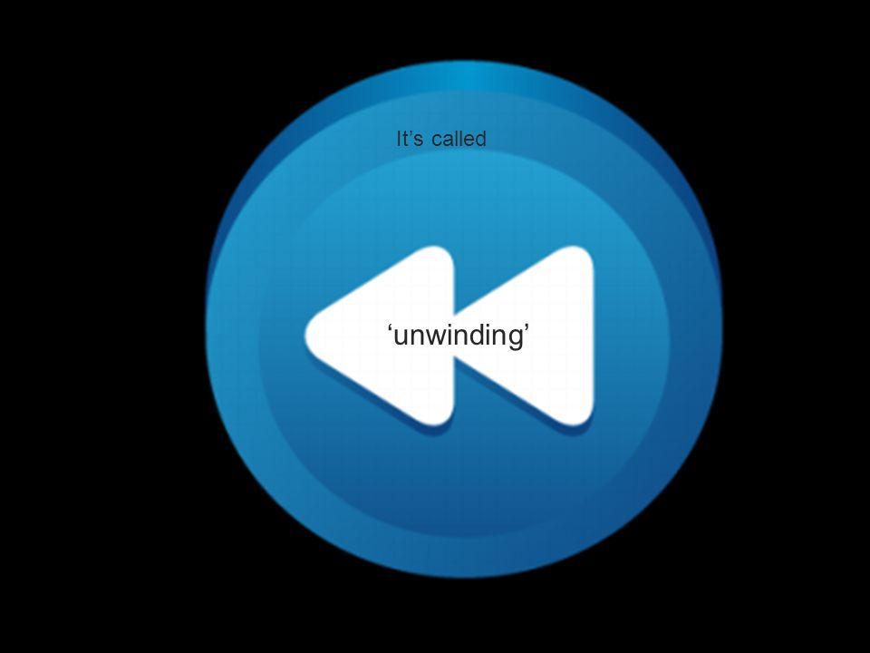 It's called 'unwinding'