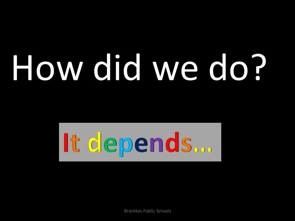 Aggregated & Disaggregated 2006-10 Trends & 2010 Results CPI Performance Brockton Public Schools