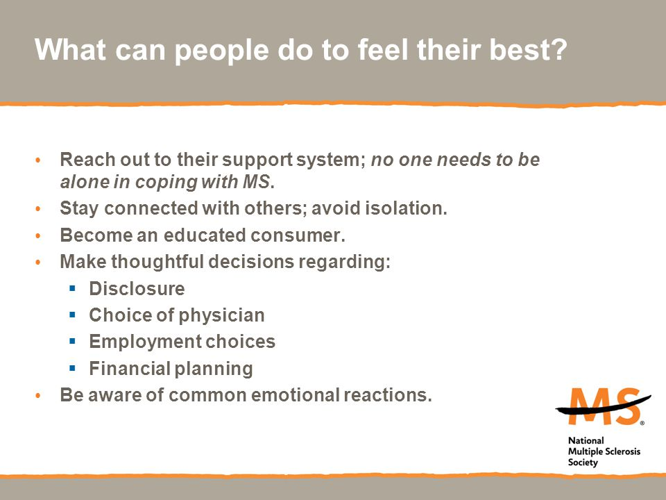What can people do to feel their best.