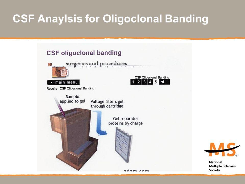 CSF Anaylsis for Oligoclonal Banding