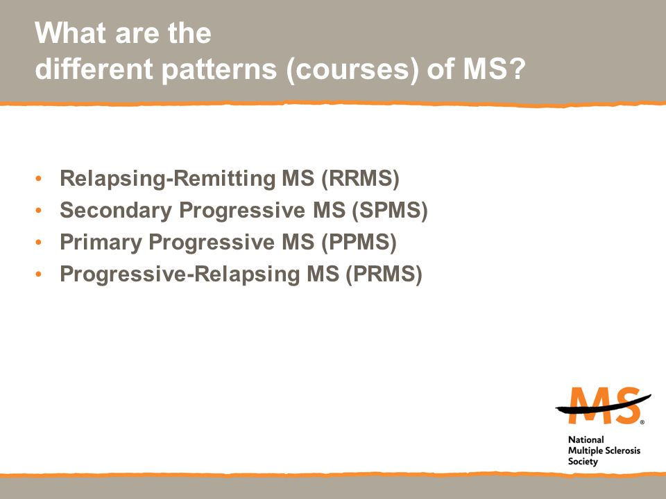 What are the different patterns (courses) of MS.