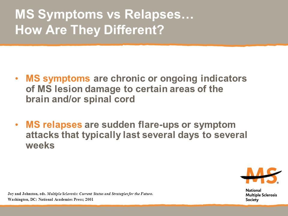 MS Symptoms vs Relapses… How Are They Different.