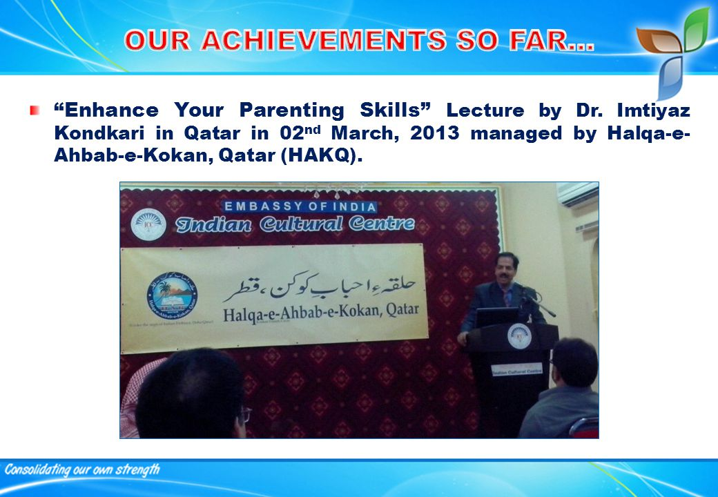 Enhance Your Parenting Skills Lecture by Dr.