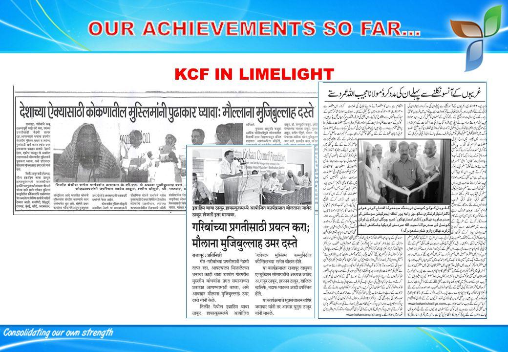 KCF IN LIMELIGHT
