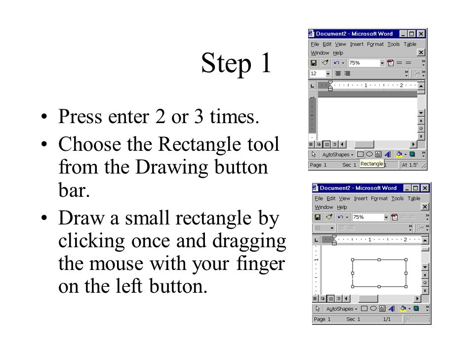 Step 2 Choose Draw, then Change Auto Shape and finally Callouts.