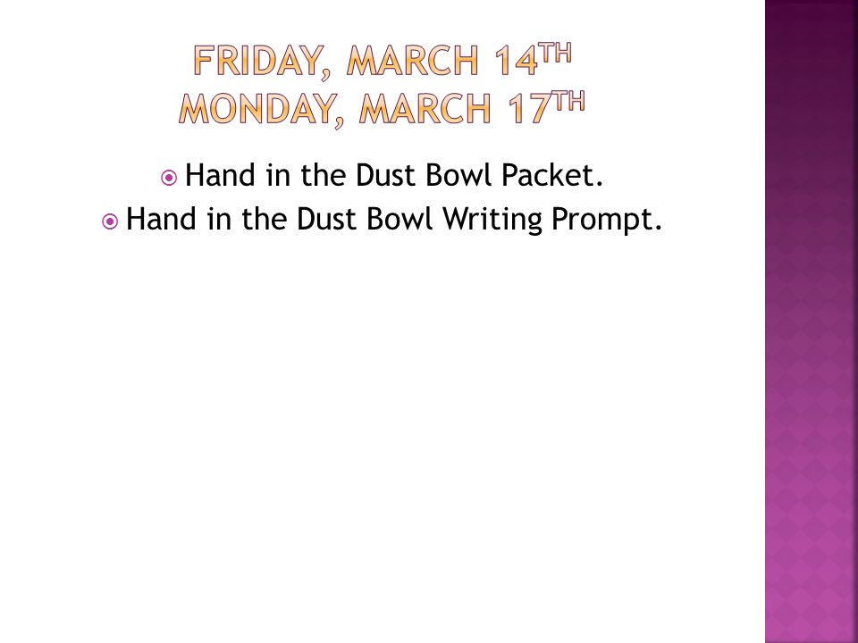 Hand in the Dust Bowl Packet.  Hand in the Dust Bowl Writing Prompt.