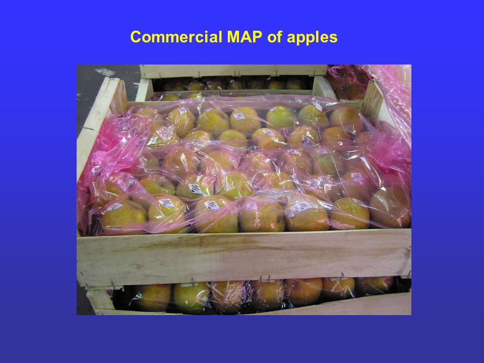Commercial MAP of apples