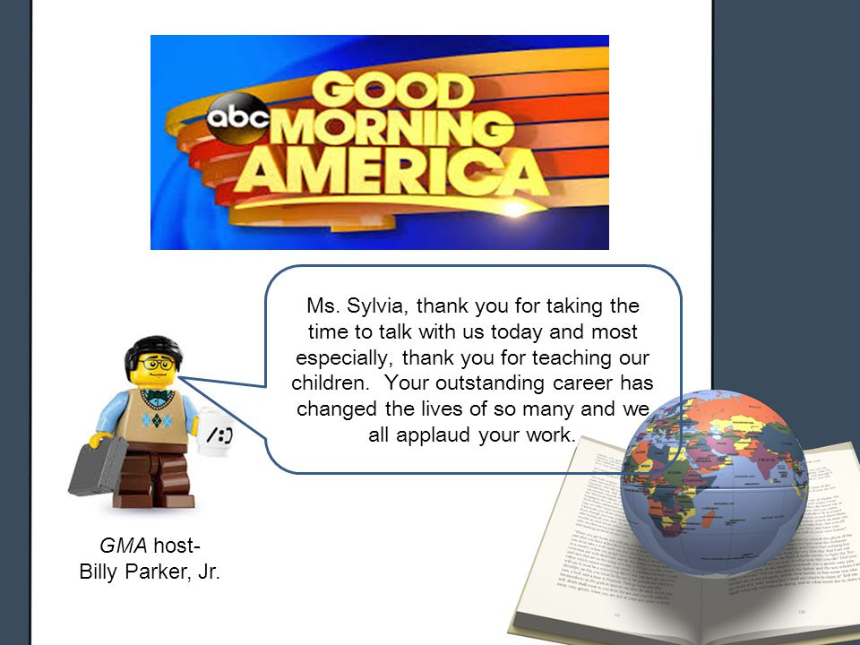 GMA host- Billy Parker, Jr. Ms.