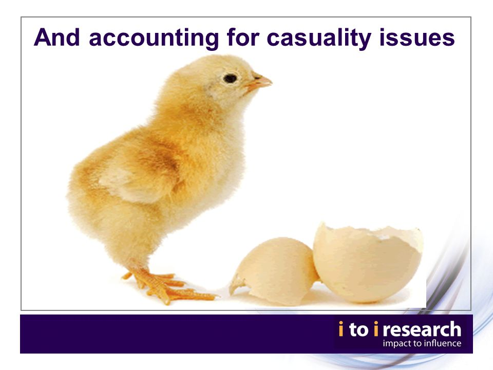 And accounting for casuality issues