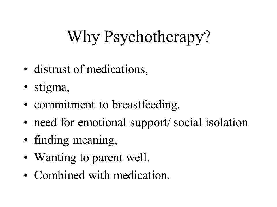Why Psychotherapy.