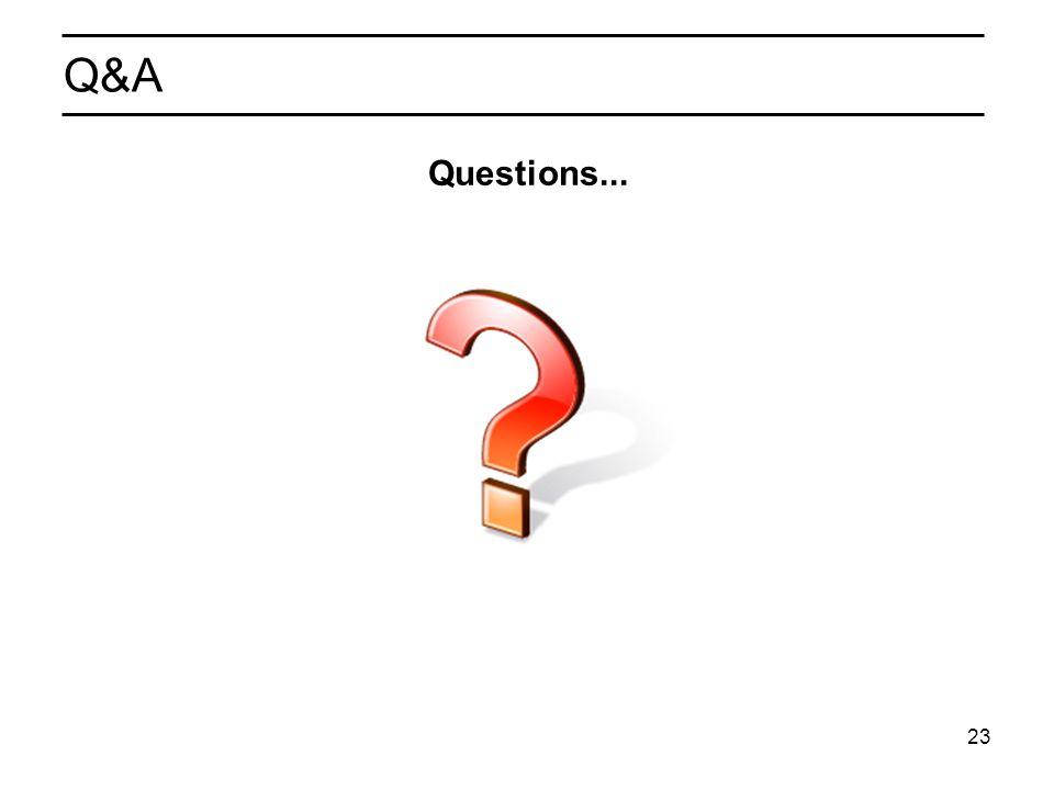 23 Questions... Q&A