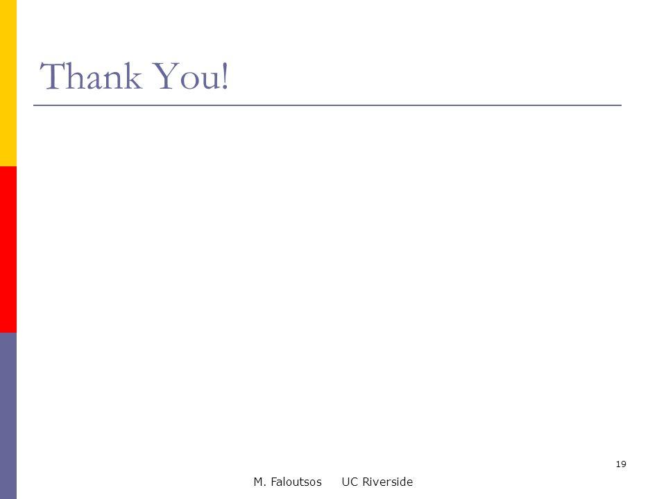 M. Faloutsos UC Riverside 19 Thank You!
