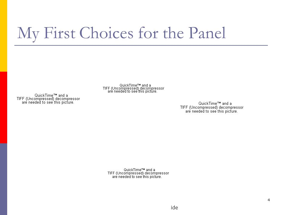 M. Faloutsos UC Riverside 4 My First Choices for the Panel