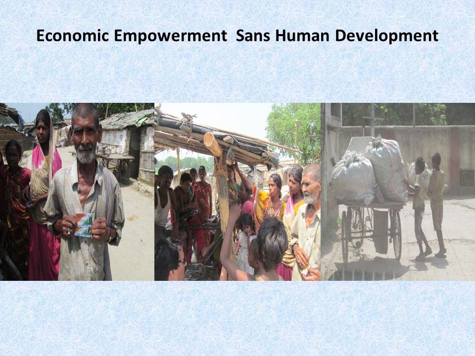 Economic Empowerment Sans Human Development