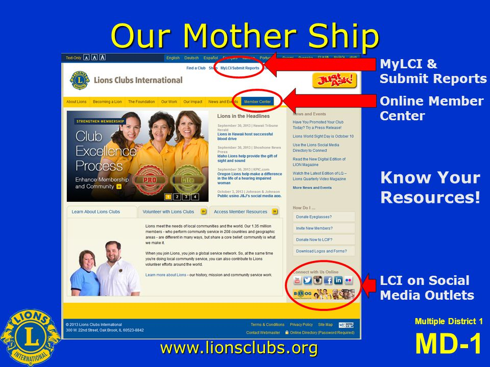 Multiple District 1 MD-1 illinoislionsmd1.org FEATURES LINKS This section contains links to Lions related sites and resources.