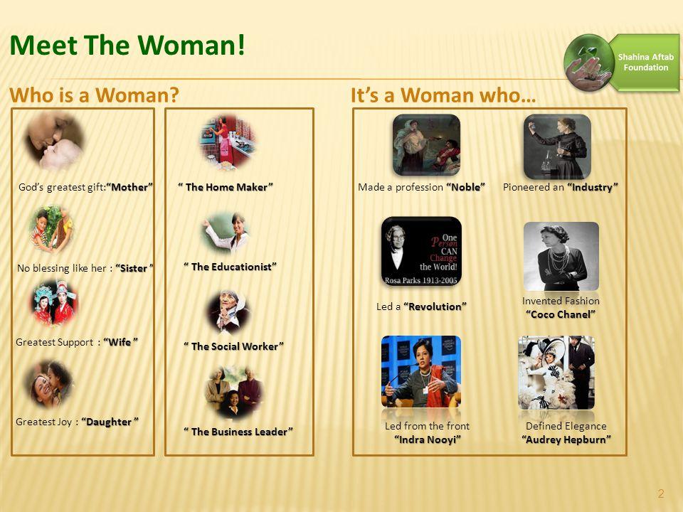 Meet The Woman.