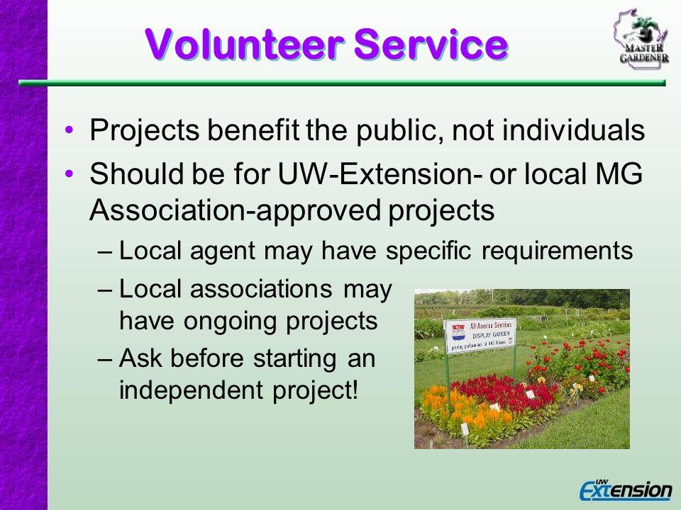 Volunteer Hours Minimum of 24 hours – just 2 hours per month.