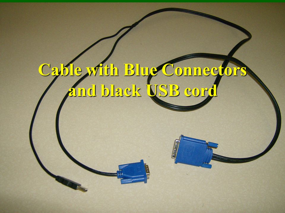 Cable with Blue Connectors and black USB cord