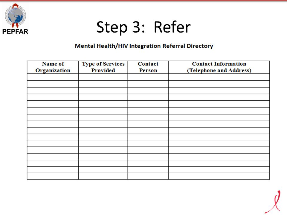 Step 3: Refer