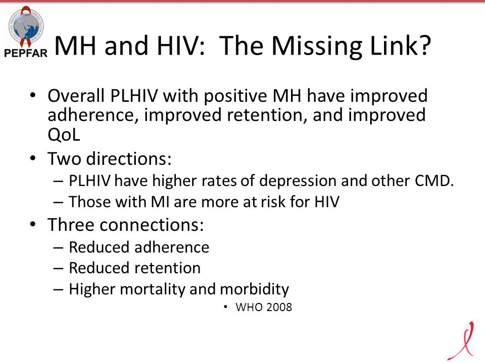 MH and HIV: The Missing Link.