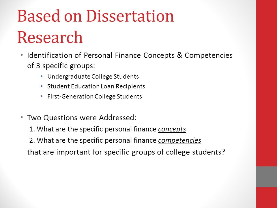 Dissertation On First Generation College Students