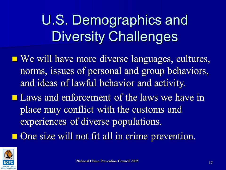National Crime Prevention Council 2005 17 U.S.