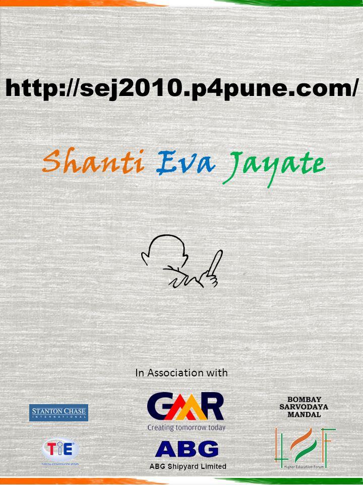 Shanti Eva Jayate In Association with http://sej2010.p4pune.com/
