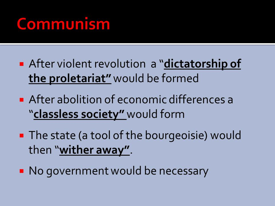 " Communist Manifesto 1848  History is conflict between ""haves"" and ""have nots""  History goes through cycles determined by economics  ""Haves"" own a"