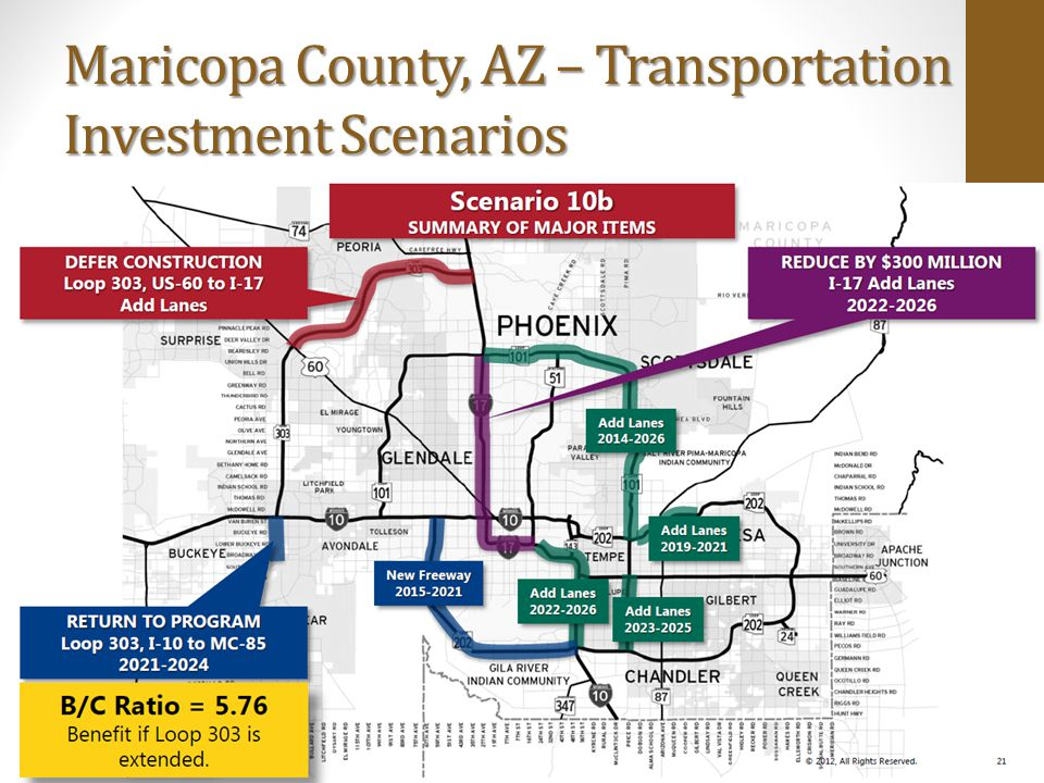 Maricopa County, AZ – Transportation Investment Scenarios