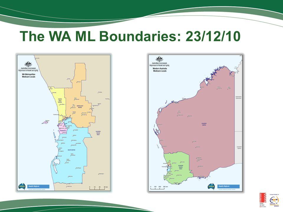 The WA ML Boundaries: 23/12/10