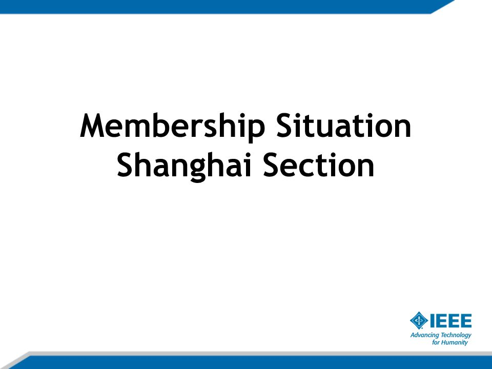 Membership Situation Shanghai Section