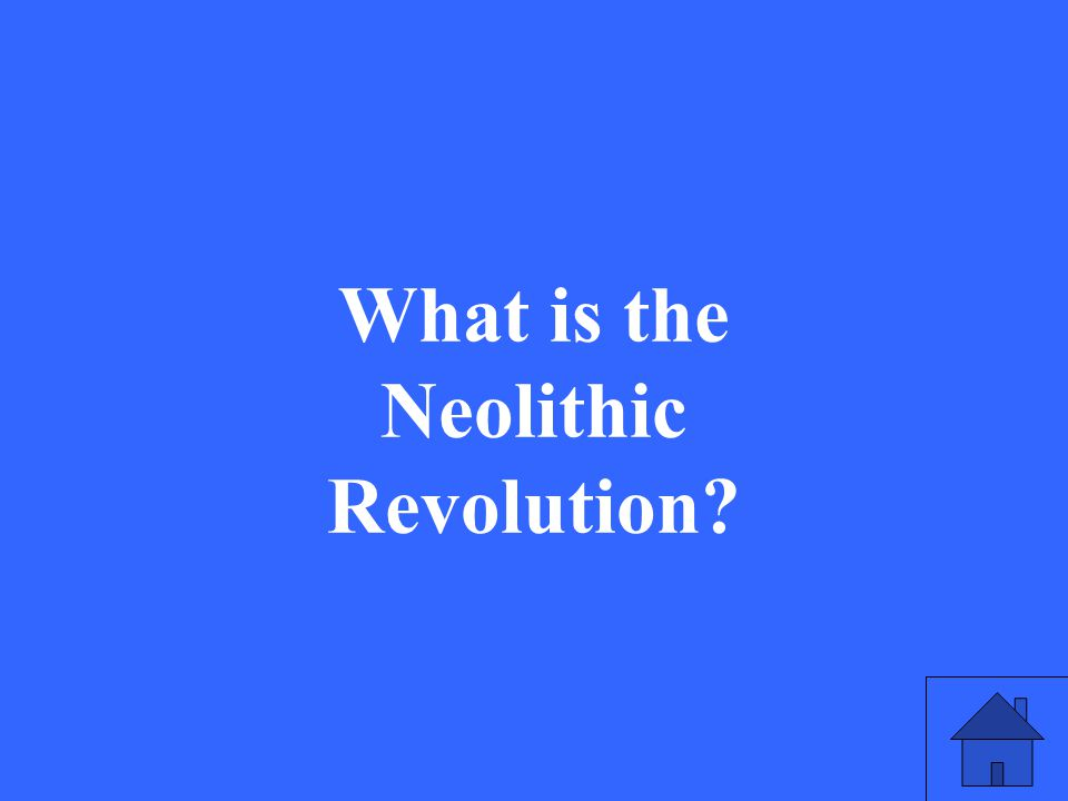 5 What is the Neolithic Revolution?