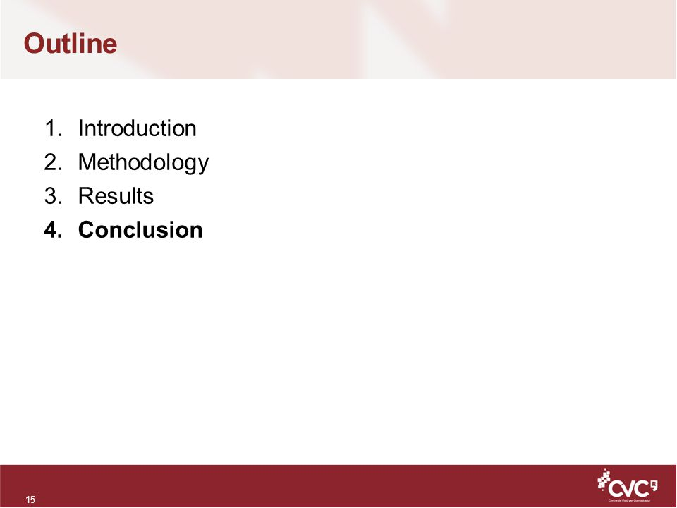 Outline 15 1.Introduction 2.Methodology 3.Results 4.Conclusion