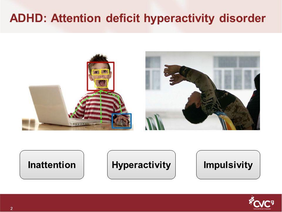ADHD: Attention deficit hyperactivity disorder 2 InattentionHyperactivityImpulsivity