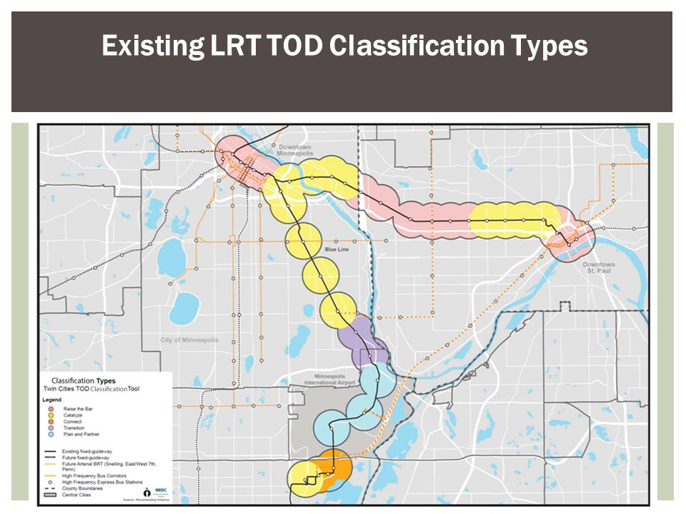 Existing LRT TOD Classification Types